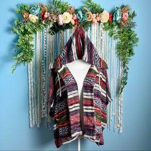 Billabong woven short sleeve hoodie S/M